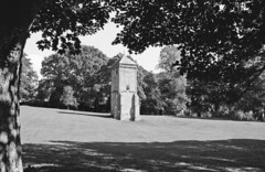 Abington Park water tower (DH73.) Tags: abington park northampton water tower trees autumn minolta dynax 8000i 3570mm lens ilford fp4 foma fomadon r09 rodinal 125 9mins 68°f