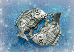 PISCES •´¯`•.,,.• 🐟 🐟 (Through Serena's Lens) Tags: hmm macromondays zodiac sign pisces fish pewter chopstickrestholders macro stilllife tabletop 7dwf