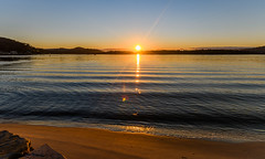 Sunrise Waterscape and Reflections on the Bay (Merrillie) Tags: view woywoy color nature australia sun weather newsouthwales light brisbanewater nsw scene water scenery coastal dawn coast scenic daybreak sky waterscape sunrise centralcoast landscape bay