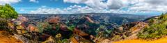 Waimea Canyon Wide Pano (Macro Focus) Tags: waimea canyon kauai hawaii island tropical mountain