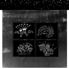 (Sin título) (Sonia Laroy) Tags: dibujo artes visuales collage alto contraste abstracción textura orgánico punto linea tono brillo blanco y negro monocromático