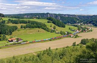 193 896 Captrain/ITL, Kurort Rathen - Königstein (Germany)