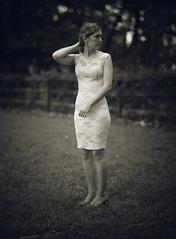 Looking for the same thing. (lawsonpix) Tags: lawsonpix largeformat standing woman industar51 210mm f45 4x5 calumet cc400 vintageprime prime portrait