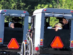 Highway traffic (thomasgorman1) Tags: road highway buggy horse people family children traveling candid street streetphotos country rural canon woman amish pennsylvania