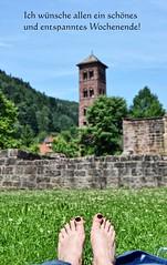 Ich wünsche euch ein entspanntes Wochenende! (chrissie.007) Tags: deutschland badenwürttemberg calw schwarzwald hirsau nordschwarzwald klosterruine eulenturm kloster ruine