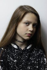 4541b (karel.seidl) Tags: girl face headshot indoor portrait shirt browneyes browneyed black necklace flickr15stars czphoto hoodie caucasian youngster younggirl
