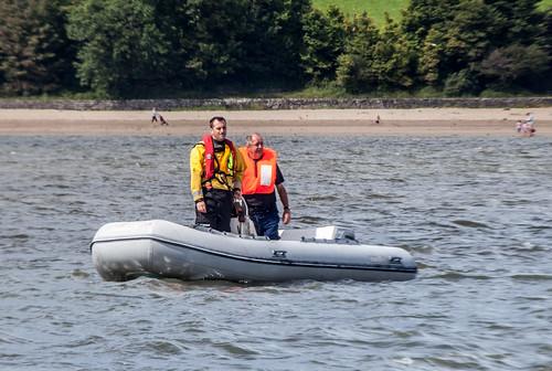 Ferryside to Llanstephan Charity Swim 2011