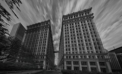 The Wrigley Building (Jovan Jimenez) Tags: sony ilce 6500 12mm f28 emount a6500 alpha zeiss touit distagon pano panorama carl autopano autopanopro giga pixel black white gray monochromic hdr chicago architecture building behind the wrigley kolor nik collection silver city downtown monochrome scape cityscape retro vintage gigapixel