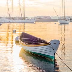 Dawn burns a morning fog off Vineyard Haven Harbor. (John Piekos) Tags: shoreline marthasvineyard ships water dawn ocean tisbury boat sony vineyardhaven rx100 shore morning fog