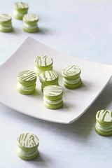 Upside Down Matcha Yuzu Macarons (Мiuda) Tags: macarons macaron matcha yuzu upsidedown green greentea citric japanese japan oriental light white grey pastel sweet sweets sugar confectionery pastry patissier patisserie roll cuisine sushi candy food dessert bake baking bakery baked french almond icing filling blog blogger foodphotography foodphotographer foodphoto canon homemade professional contemporary modern stylish fashion