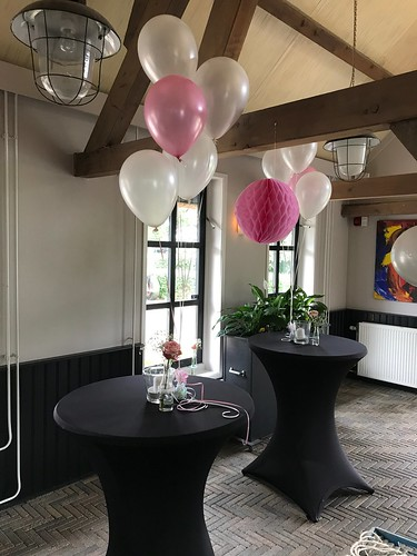 Tafeldecoratie 5ballonnen Brasserie Schinkelshoek Vlaardingen