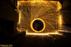 Steel / wire Wool Spinning (Rick Drew - 20 million views!) Tags: steel wire wool spinning fire hot sparks sparky orange spiral circle ring