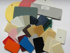 Bayer color sample plates (Fantastic Brick) Tags: lego bayer test brick plastic cellidor plate novodur abs ca