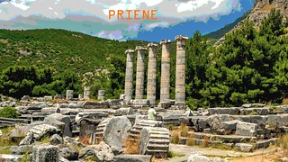 PRIENE Ancient City,  The Temple of Athena (Söke/ Turkey)
