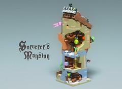 Sorcerer's Mansion (GolPlaysWithLego) Tags: lego moc minimodular modular