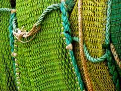 green spectrum (Szymek S.) Tags: net seine boat fishingboat fish seiner purseseiner vikingcavalier harbour port steveston richmond river fraserriver britishcolumbia canada