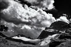 Disappearance... (Ody on the mount) Tags: anlässe berge em5ii gletscher himmel mzuiko2518 omd ochsentalgletscher olympus urlaub wanderung wiesbadenerhütte wolken bw clouds glaciers monochrome mountains sw sky gaschurn vorarlberg österreich at