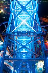 virtual on (qrsk) Tags: ferriswheel amusementpark night light rebar yokohama 観覧車 遊園地 横浜 夜景 鉄筋