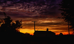 Shapes of the morning (Kevin_Jeffries) Tags: silhouette nikon nikkor kevinjeffries morning sunrise color shapes urban newzealand d7100 house weather 7dwf clouds sky landscape street