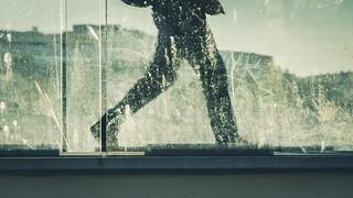 Walking of silhouette