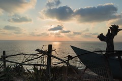 The Mediterranean (Ivona & Eli) Tags: beach summer nohuman water rays middleeast herzliya israel cliff mediterranean clouds sun sunset sea