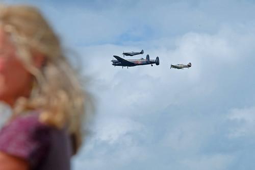 RAF BBMF Lancaster, Spitfire & Hurricane