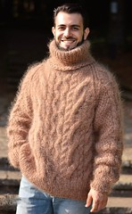 Men aranstyle turtleneck mohair jumper (Mytwist) Tags: dukyana handknitted mens mohair sweater cabled tneck fuzzy jumper soft pullover mylovelyknittings4u turtleneck tn heavy aranstyle authentic style sexy design donegal fashion fetish fisherman grobstrick handgestrickt handcraft honeycomb jersey knitwear love craft cozy classic cables chunky vouge viking blonde bulky new husband qx pride
