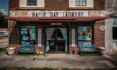 Oh Happy Day. (Mr. Pick) Tags: happy day laundry ardmore al alabama coke sign vintage ceramics bench monday clayhouse pottery