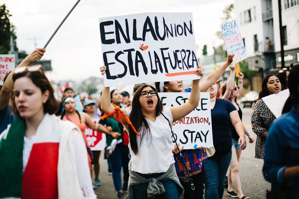 Los Angeles March for Immigrant Rights by mollyktadams, on Flickr