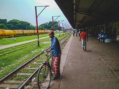 Rangpur Rail Station. (N i B i R) Tags: rangpur rajshahidivision bangladesh bd rail station people cycle movement colors