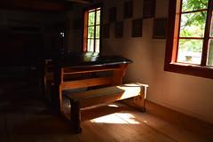 back to school (JoannaRB2009) Tags: school interior classroom desk light shadow window floor room old historical openairmuseum łowicz maurzyce łódzkie lodzkie polska poland building architecture summer