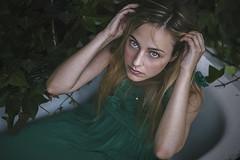 Bathtub (Before: Elisbeth Rose) Tags: girl green bathtub canon canon6d canoneos6d 6d 50mm 50mm18 portrait selfportrait selfie myself retrato autorretrato chica nature naturaleza dress verde hair eyes