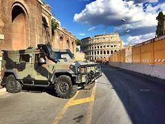 Safe Rome (ioriogiovanni10) Tags: romasicura esercito esercitoitaliano sony capitale agosto cielo sky lumix iphone rome military città colosseo