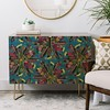 bohemian posy blue DENY credenza (Scrummy Things) Tags: sharonturner boho bohemian posy posie bouquet surfacedesign illustration illustrative feather feathers floral flowers denydesigns credenza furniture home sideboard blue