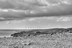 Wind Field (G-daddyArt) Tags: windmill rocks sky cloud cloudscape windfield canon50d