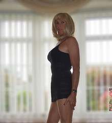 Ember 204 (Ember Green.) Tags: cd crossdresser crossdresserinshortdress shortdress transvestite tgirl ember embergreen dress