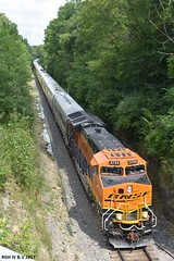 Parting the Red Sea For The BNSF Officer Special (R.G. Five) Tags: oregon il burlington rd officer special aurora sub bnsf passenger train tier4