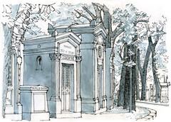 Paris, Père-Lachaise (gerard michel) Tags: paris france cimetière sketch croquis