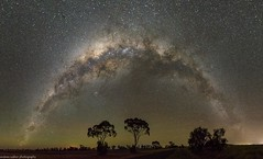 milky way rainbow over Tummaville (andrew.walker28) Tags: milky way galaxy galactic centre panorama long exposure rainbow tummaville darling downs queensland australia