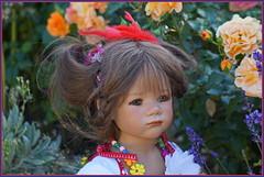 Milina unser kleines Nestäkchen ... (Kindergartenkinder) Tags: sommer blumen personen grugapark essen kindergartenkinder garten blume park annette himstedt dolls milina