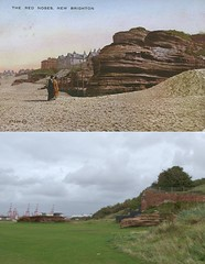 The Red Noses, New Brighton, 1900s and 2017 (Keithjones84) Tags: birkenhead wallasey merseyside wirral thenandnow rephotography newbrighton