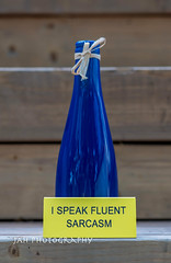 Say, What, Now? (jah32) Tags: bott bottles bottle blue yellow signs sign onthedeck ceramic inmybackyard