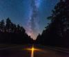 Forest Road (free3yourmind) Tags: forest woods road night sky stars lamp middle belarus trees milky way colorful fairytale beauty astrometrydotnet:id=nova2216463 astrometrydotnet:status=failed