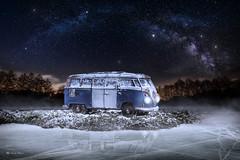 Lost in the ice (Xabi Guardia) Tags: ice furgoneta van volkswagen vialáctea milkway lightpainting hielo dreams ps photoshop snow