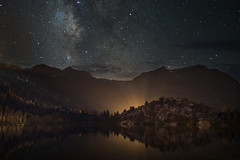 glow (Andy Kennelly) Tags: junelake california unitedstates us gull lake milky way stars night mountains