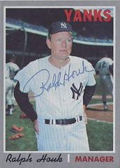 1970 Topps - Ralph Houk #273 (Manager) (b. 9 Aug 1919 - d. 21 Jul 2010 at age 90) - Autographed Baseball card (New York Yankees) (Treasures from the Past) Tags: 1970 topps 1970topps baseball cards baseballcard vintage auto autograph graf graph graphed sign signed signature ralphhouk newyorkyankees yankees manager