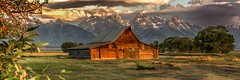 HDR of Barn at Mormon Row (sapere18) Tags: 2017 grandteton hdr july mormonrow wyoming panorama summer sunrise