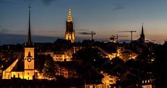 Berne - Blue Hour - Schweizerische (valecomte20) Tags: berne blue hour schweizerische tour eglise crépuscule ville nuit nikon d5500 goldenhour bluehour