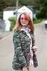Super casual autumnal pattern mix: Camo jacket \ check plaid shirt \ cream peg pants trousers \ white Adidas Stan Smiths | Not Dressed As Lamb, over 40 style (Not Dressed As Lamb) Tags: aw17 outfit ootd fashion style autumn fall camo camouflage checks plaid