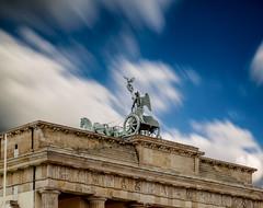 Brandenburg Gate (kubaszymik) Tags: longexpo long exposure berlin archi clouds travel sculpture gate brandenburg tor europe canon